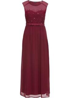 Платье вечернее с пайетками (кленово-красный) Bonprix