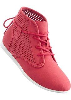 Ботинки на шнуровке (нежно-омаровый) Bonprix