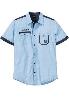 Рубашка Regular Fit с коротким рукавом (нежно-голубой) Bonprix