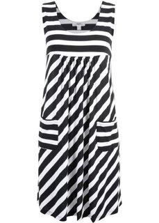 Платье-стретч в полоску (черный/белый в полоску) Bonprix