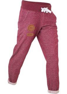 Трикотажные брюки (красный меланж) Bonprix