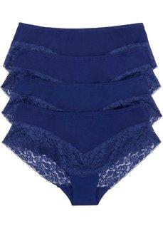 Трусики-панти (4 шт.) (темно-синий) Bonprix