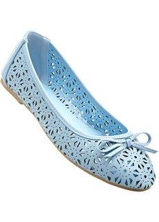 Балетки, нормальная стопа (нежно-голубой) Bonprix