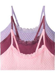 Бюстье (3 шт.) (розовый/сиреневый/ягодный) Bonprix