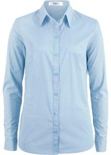 Блузка-рубашка с длинными рукавами (синий) Bonprix