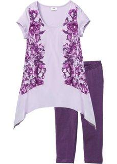 Пижама-капри (виноградный/сиреневый с рисунком) Bonprix