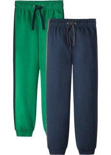 Брюки из трикотажа (2 шт.) (темно-синий/зеленый) Bonprix