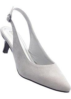 Туфли-лодочки с открытой пяткой (светло-серый) Bonprix