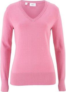 Пуловер тонкой вязки (малиновый) Bonprix