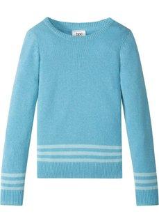 Пуловер вязаный (бирюзовый) Bonprix
