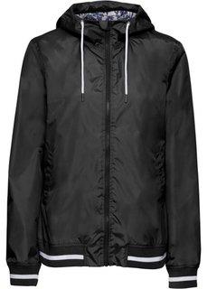 Куртка спортивная (черный/белый) Bonprix