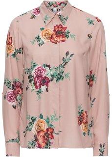 Блузка в цветочек (винтажно-розовый/узор в цветочек) Bonprix