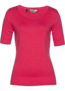 Пуловер с коротким рукавом (ярко-розовый) Bonprix