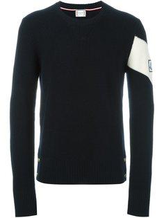 свитер с контрастной полоской Moncler Gamme Bleu