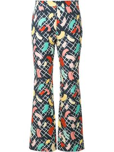 брюки с принтом мазков кисти Rossella Jardini