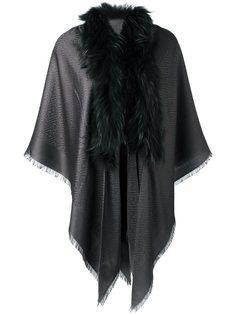 шарф с отделкой из меха енота Fendi