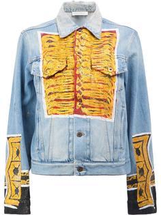 джинсовая куртка с блестящим принтом Faith Connexion