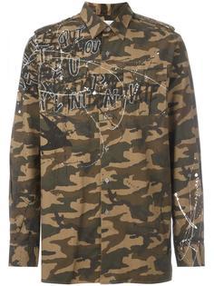 куртка-рубашка с камуфляжным принтом Faith Connexion