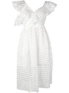 платье шифт с вырезными деталями Self-Portrait