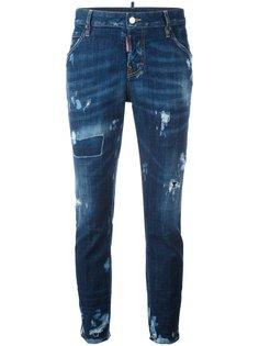 джинсы с потертой отделкой Cool Girl Dsquared2