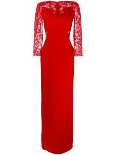 вечернее платье с кружевными вставками Ermanno Scervino