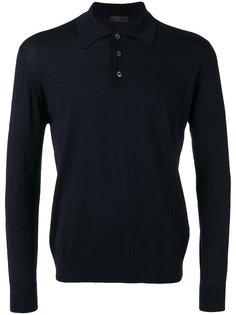 однотонная рубашка-поло  Prada