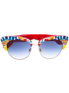 солнцезащитные очки с узором Mambo Dolce & Gabbana Eyewear
