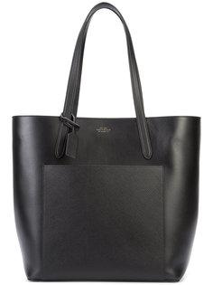 сумка-шоппер с накладным карманом Smythson