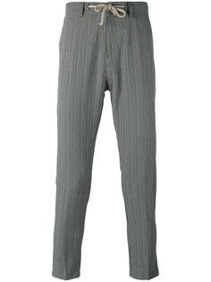 зауженные полосатые брюки Paolo Pecora
