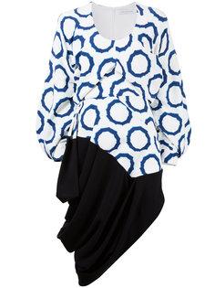 асимметричное платье с геометрическим узором JW Anderson