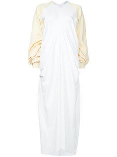 длинное платье с удлиненными рукавами JW Anderson