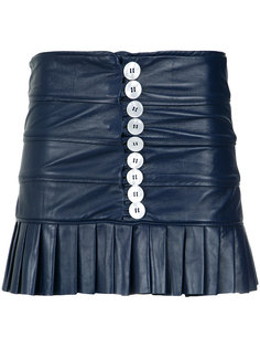 leather ruffled skirt Andrea Bogosian