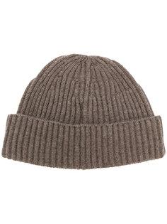 ребристая кашемировая вязаная шапка Brunello Cucinelli