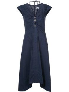 платье с короткими рукавами и шнуровкой  Derek Lam 10 Crosby