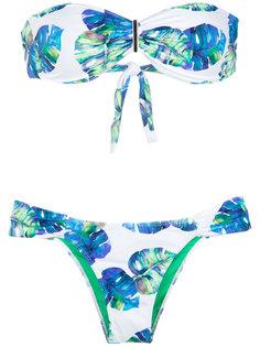 printed bandeau bikini set Brigitte