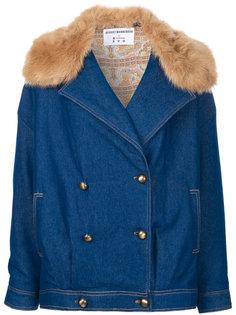 джинсовая куртка с отделкой искусственным мехом N Duo