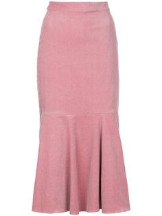 юбка из вельвета с баской N Duo