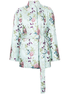 жакет-кимоно с вышитым цветочным узором N Duo