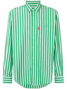 полосатая рубашка с логотипом Ami Alexandre Mattiussi