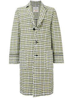 твидовое приталенное пальто COOHEM