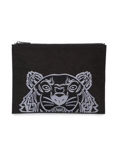 клатч с вышивкой тигра Kenzo