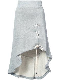 асимметричная юбка со шнуровкой Jonathan Simkhai