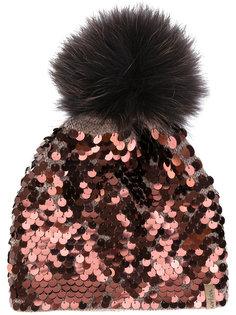 шапка декорированная пайетками Norton