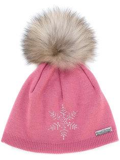 шапка со снежинкой и помпоном Norton