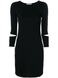 приталенное платье с вырезными деталями Helmut Lang