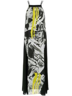 abstract print long dress Mara Mac