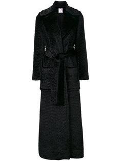 длинное пальто с поясом Ultràchic