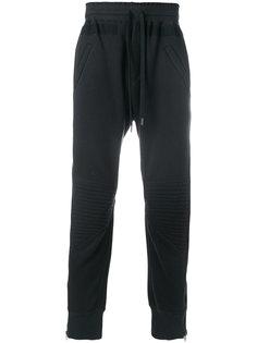 байкерские спортивные брюки с молниями Amen Amen.