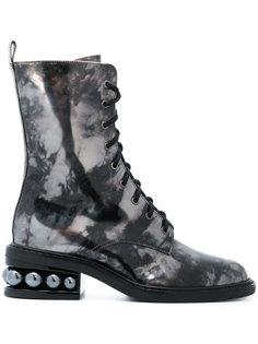 армейские ботинки Casati с жемчугом Nicholas Kirkwood