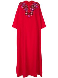 декорированное длинное платье  Emilio Pucci
